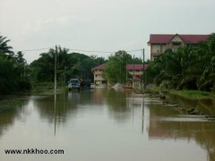 Panchur town was flooded in 5 feets high water.
