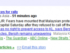 bersih in the news