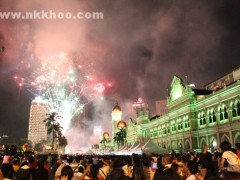 2012 new year eve in Dataran Merdeka