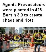 agents provocateurs in Bersih 428