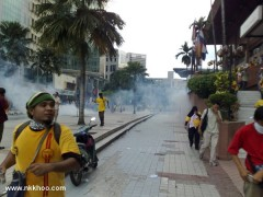 teargas shot at crowd indiscriminately
