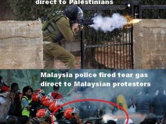 malaysia police followed Israel soldier in shooting tear gas