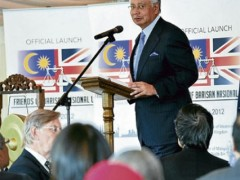 najib in London
