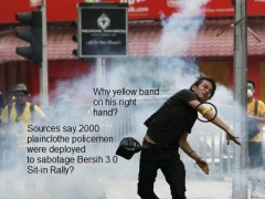 yellow band Bersih protesters