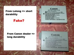 fake canon battery from Lelong