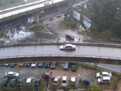 flyover in flooding
