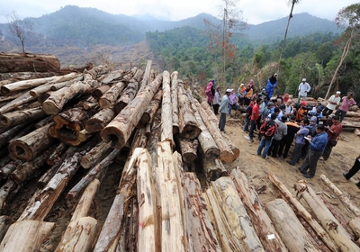 Logging in: Mohd Johari listening to villagers concerns during his visit to Bukit Perangin Forest Reserve in Changlun.