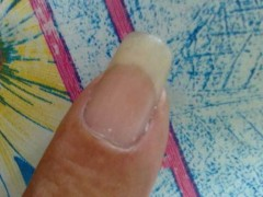 My elder brother's finger nail.