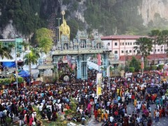 Hindus celebrating Thaipusam at the Batu Caves temple in Selangor. -filepic