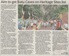 batu caves world heritage article