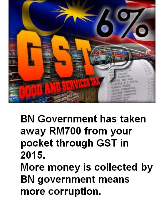 GST steals RM700 from each Malaysians