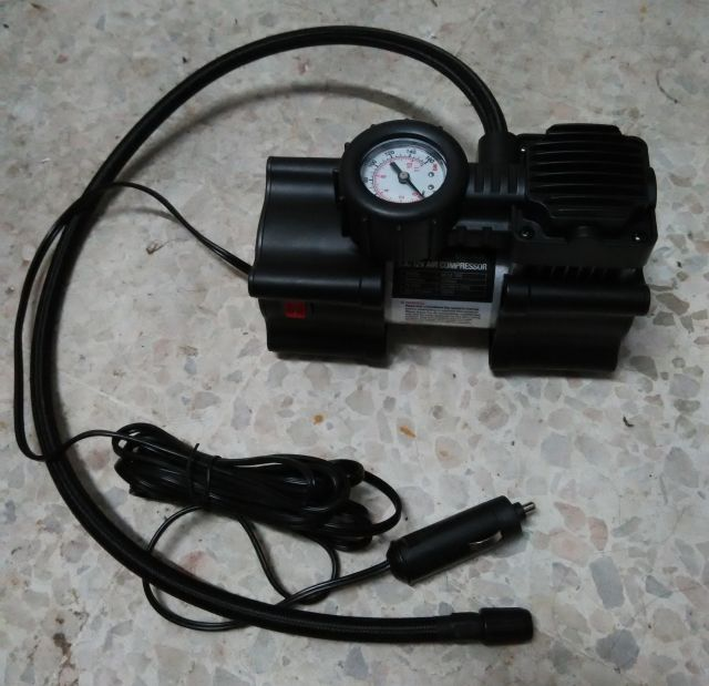 Portable air compressor bought from Mr. DIY.